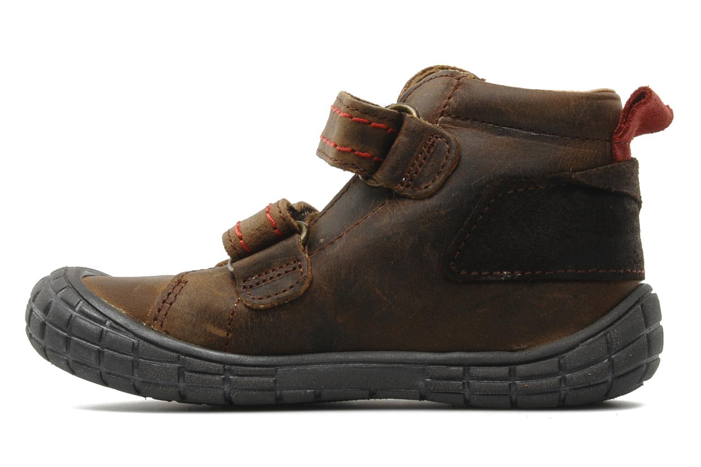 Chaussures à scratch Babybotte Aligator Marron vue face