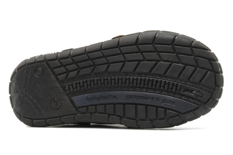 Chaussures à scratch Babybotte Aligator Marron vue haut