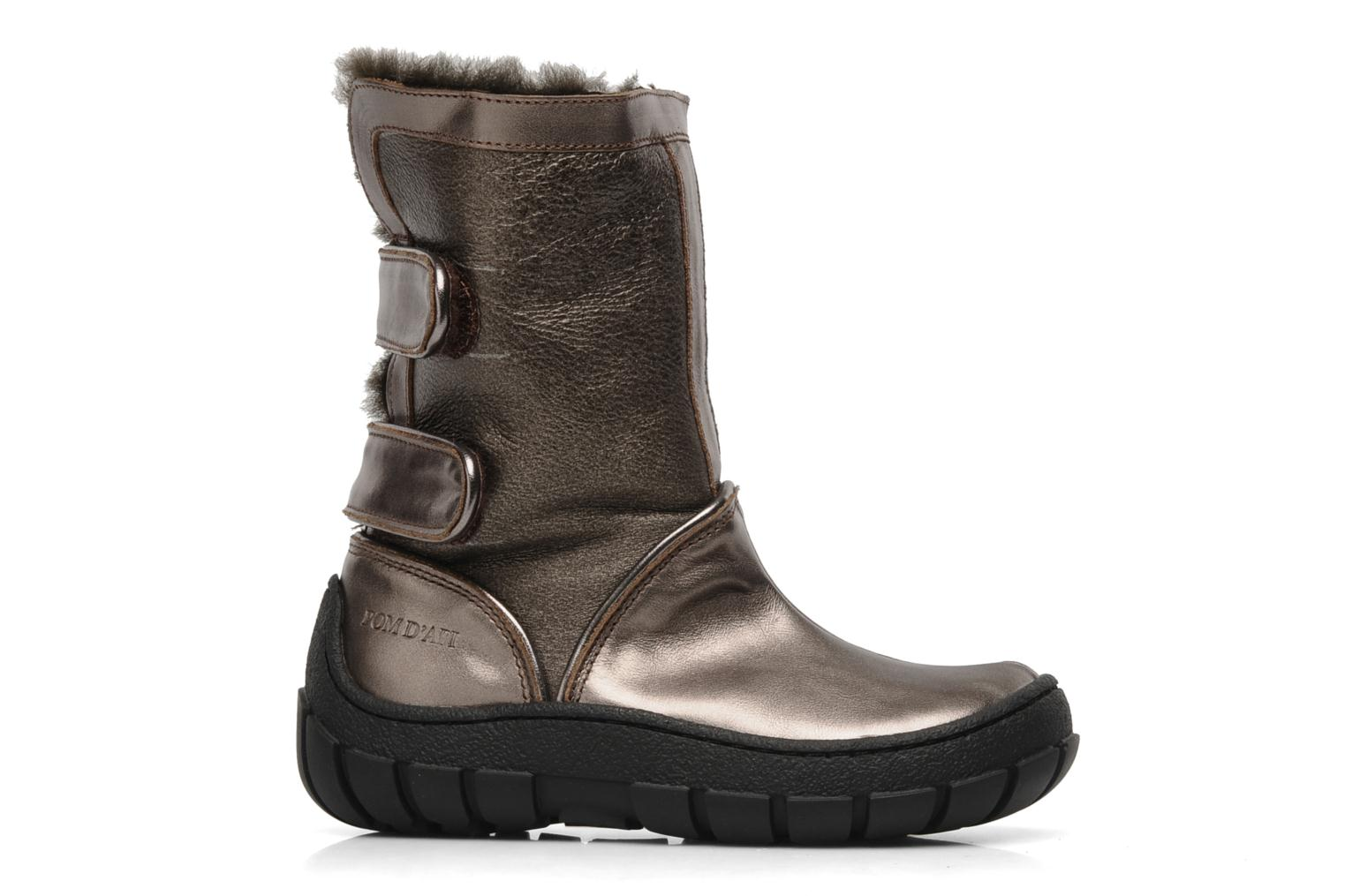 Boots & wellies Pom d Api Piwi chabraque bis Bronze and Gold back view