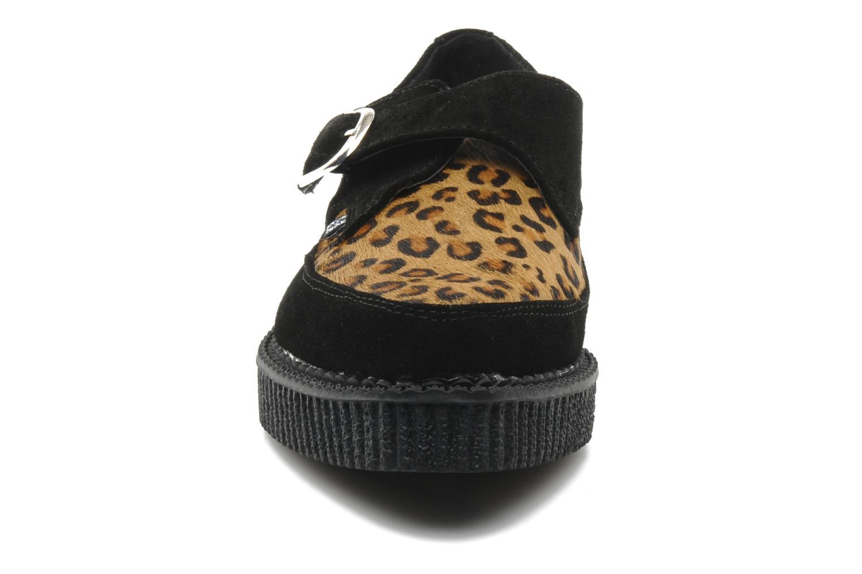 Chaussures à lacets T.U.K. Pointed Lo Buccle Noir vue portées chaussures