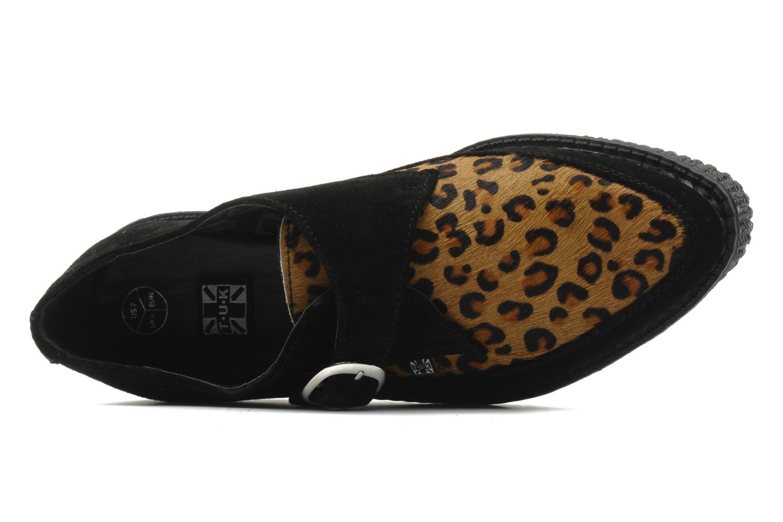Chaussures à lacets T.U.K. Pointed Lo Buccle Noir vue gauche