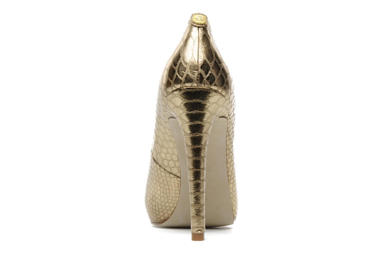 Zapatos de tacón Guess Hytner2 Oro y bronce vista lateral derecha