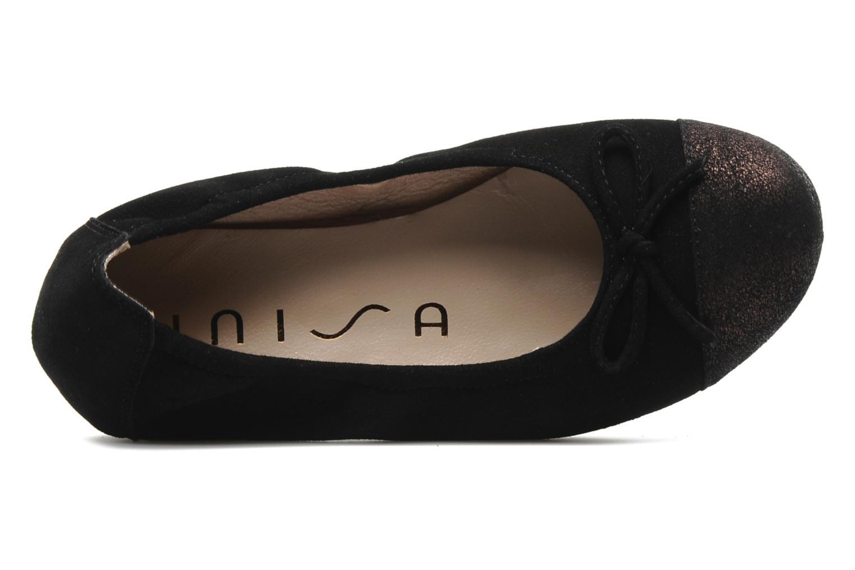 Ballerinas Unisa Cino schwarz ansicht von links