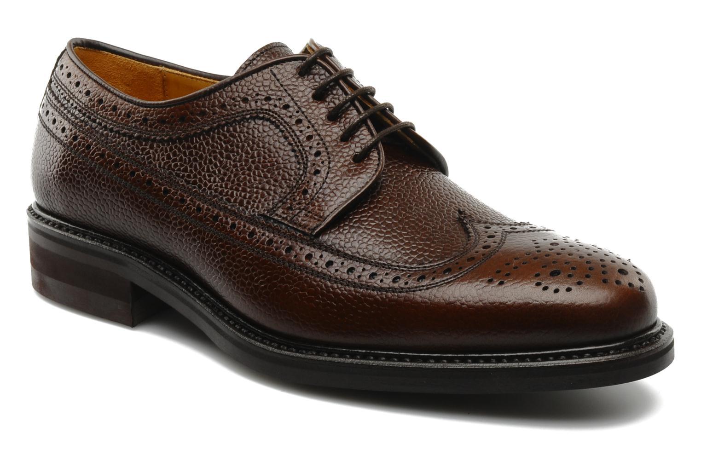 Chaussures à lacets Finsbury Barton Marron vue détail/paire