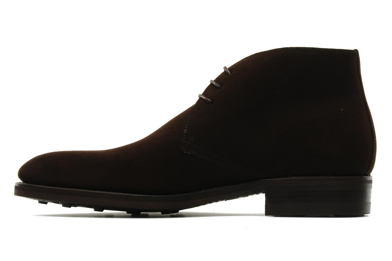 Chaussures à lacets Finsbury Chukka Marron vue face
