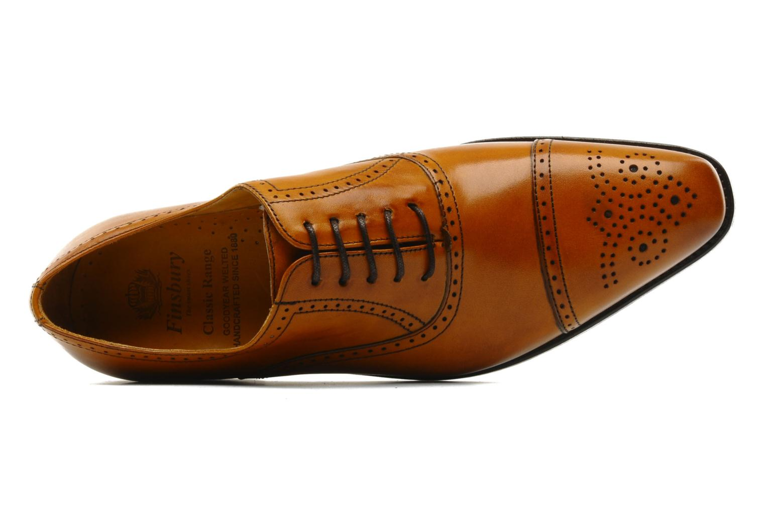Lace-up shoes Finsbury Diplomate Brown view from the left