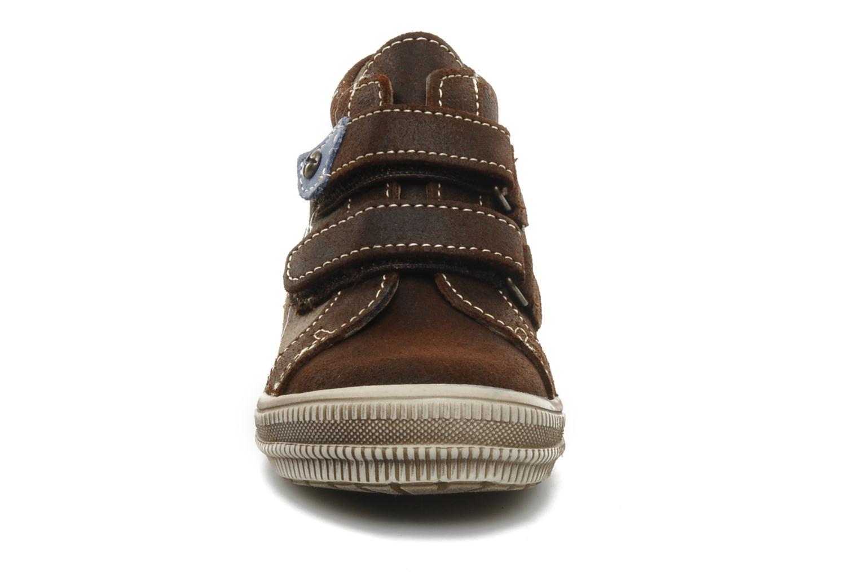Chaussures à scratch Bopy Belivel Marron vue portées chaussures