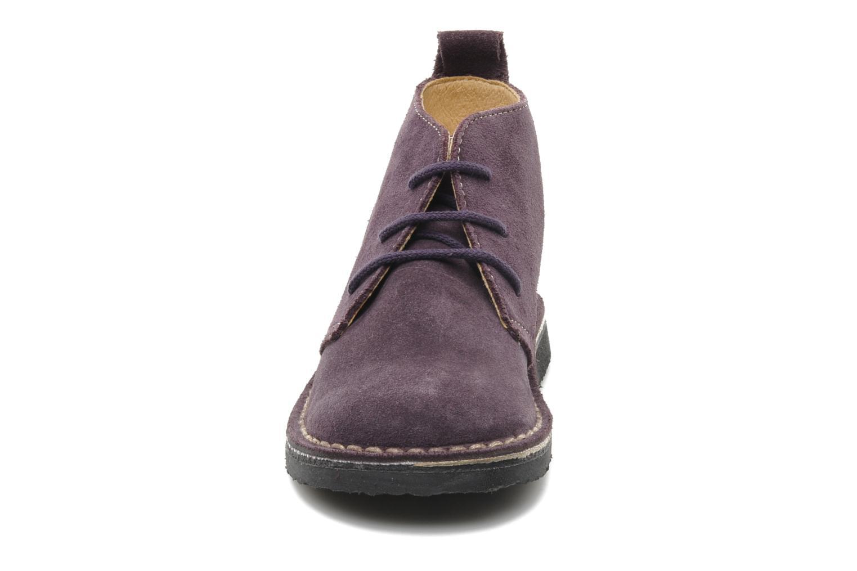 Scarpe con lacci Bopy Molaca Viola modello indossato