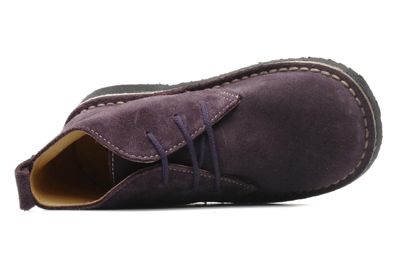Snörade skor Bopy Molaca Lila bild från vänster sidan