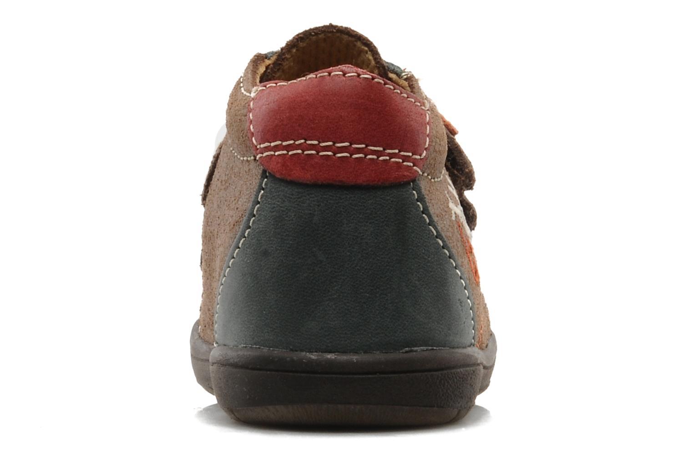 Chaussures à scratch Bopy Zirvel Marron vue droite