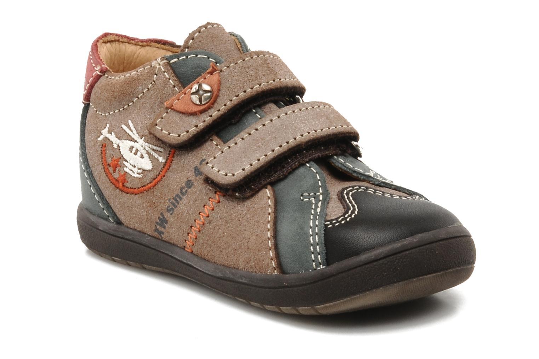 Chaussures à scratch Bopy Zirvel Marron vue détail/paire