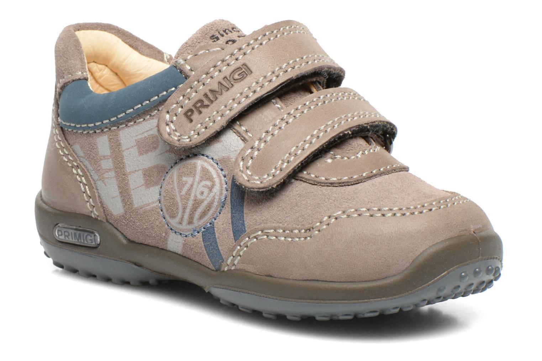 Chaussures à scratch Primigi Albin Gris vue détail/paire