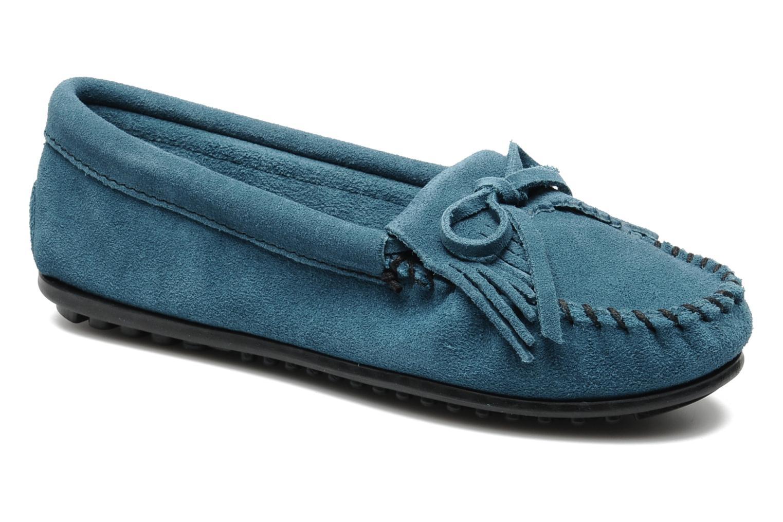 Mocassins Minnetonka KILTY SUEDE MOC Blauw detail