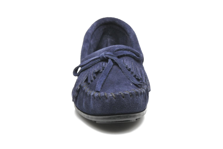 Slipper Minnetonka KILTY SUEDE MOC blau schuhe getragen