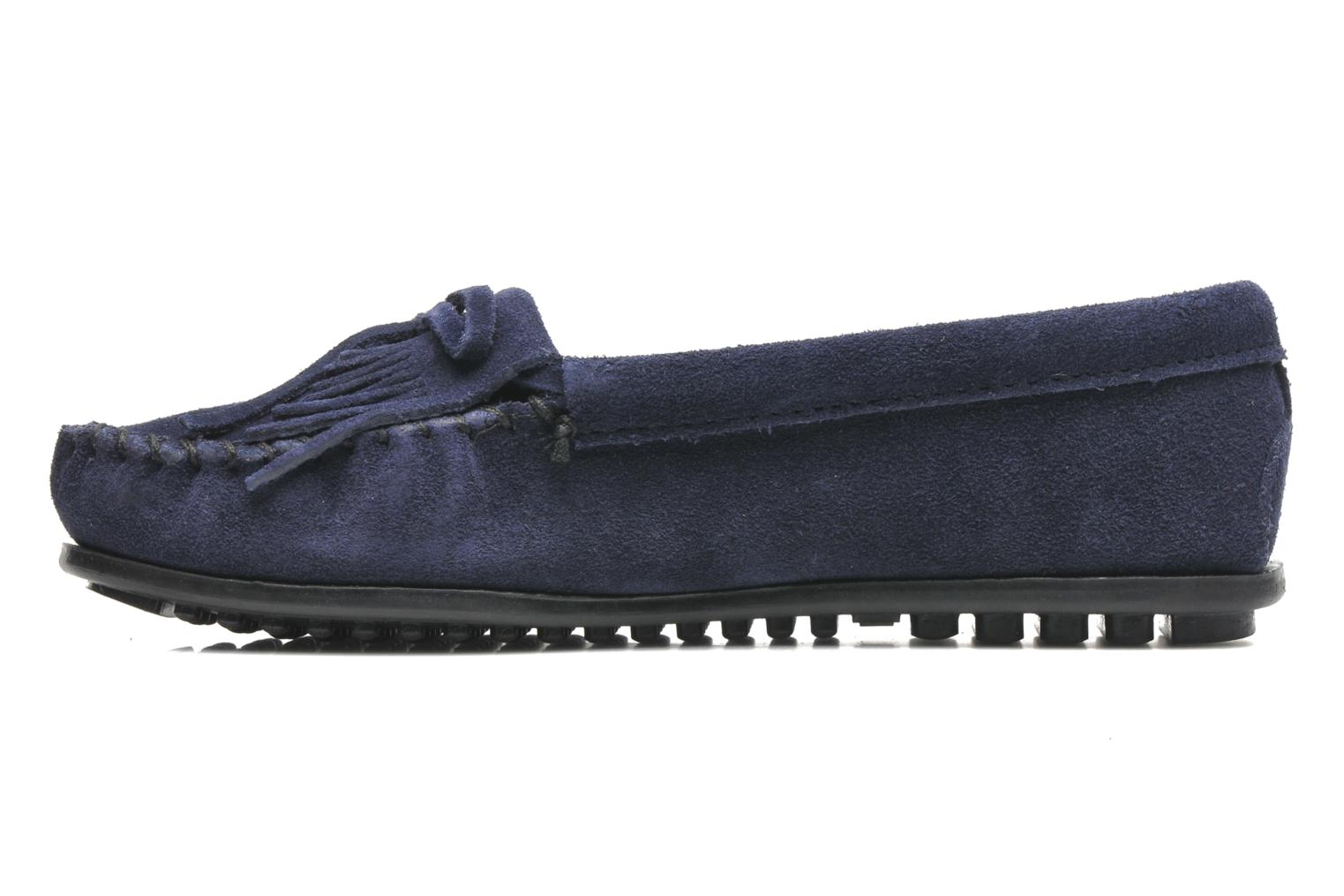 Loafers Minnetonka KILTY SUEDE MOC Blue front view