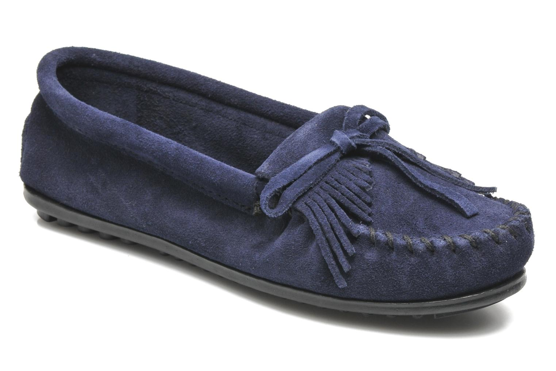 Loafers Minnetonka KILTY SUEDE MOC Blå detaljeret billede af skoene