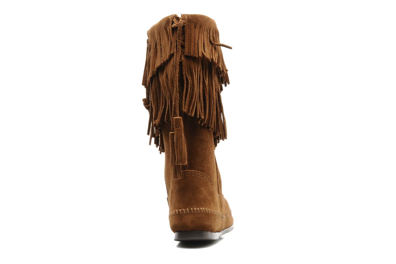 Boots en enkellaarsjes Minnetonka CALF HI 2LAYER FRINGE Bruin rechts