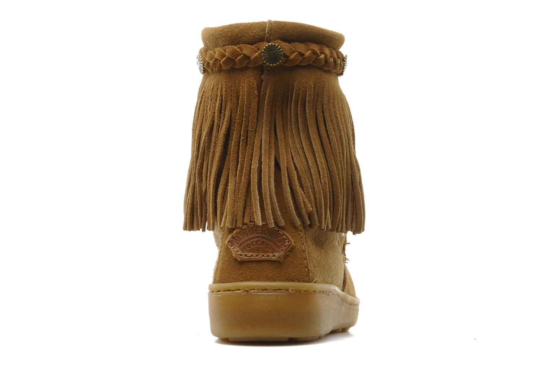 Bottines et boots Minnetonka SHEEPSKIN TRAMPER Marron vue droite