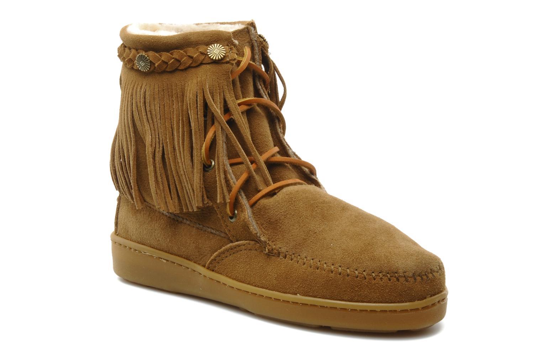 Bottines et boots Minnetonka SHEEPSKIN TRAMPER Marron vue détail/paire