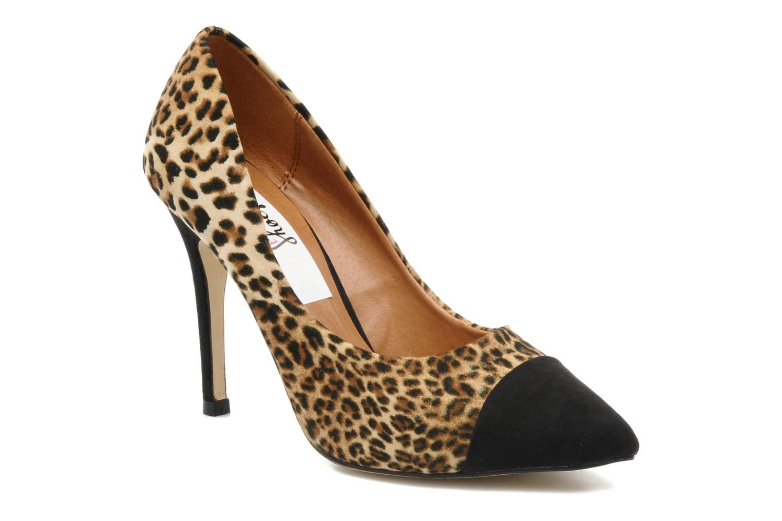 Nermina LEOPARD MICRO WITH BLACK TOE/HEEL