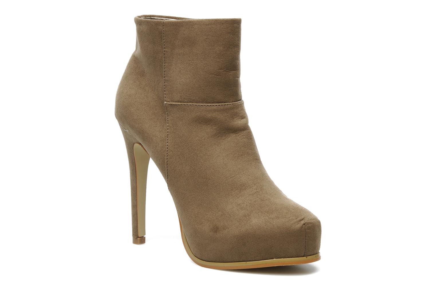 Boots en enkellaarsjes I Love Shoes Net Beige detail