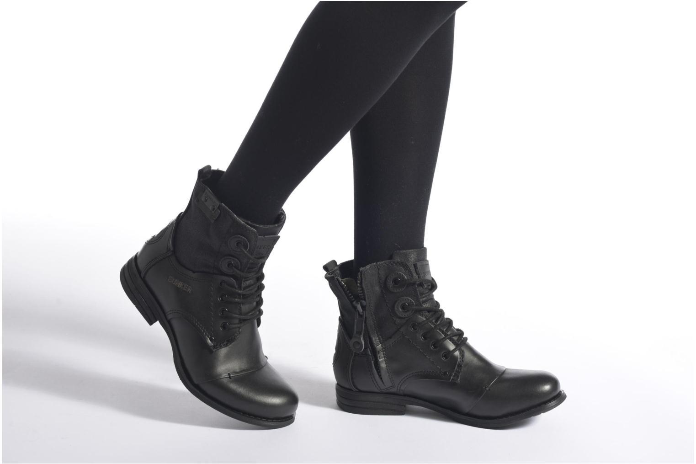 Stiefeletten & Boots Bunker Sara sar schwarz ansicht von unten / tasche getragen