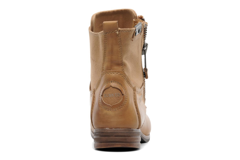 Boots en enkellaarsjes Bunker Sara zip Bruin rechts