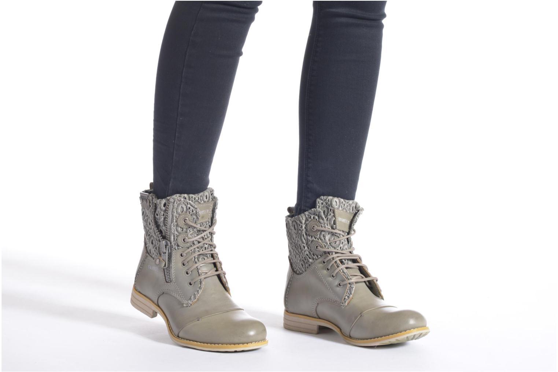 Bottines et boots Bunker Sara zip Marron vue bas / vue portée sac