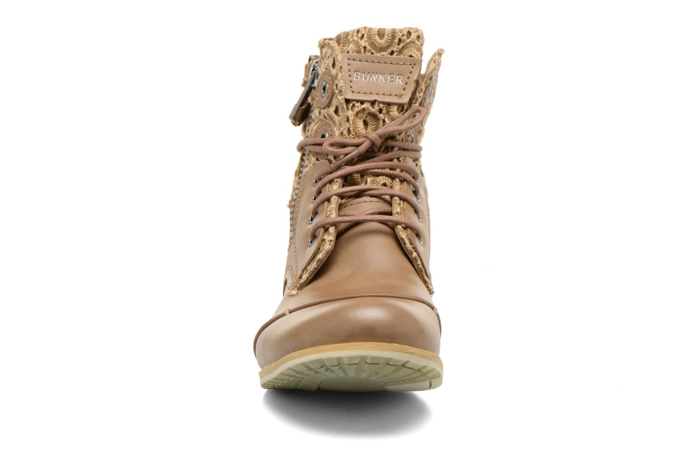 Bottines et boots Bunker Sara zip Marron vue portées chaussures