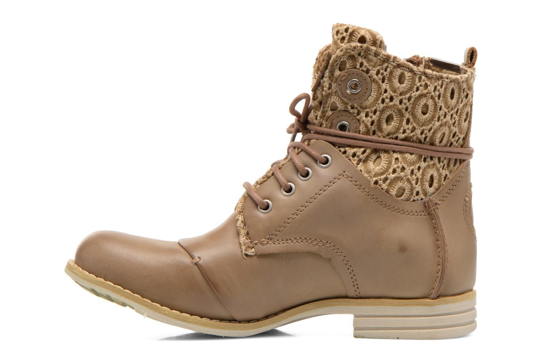 Bottines et boots Bunker Sara zip Marron vue face