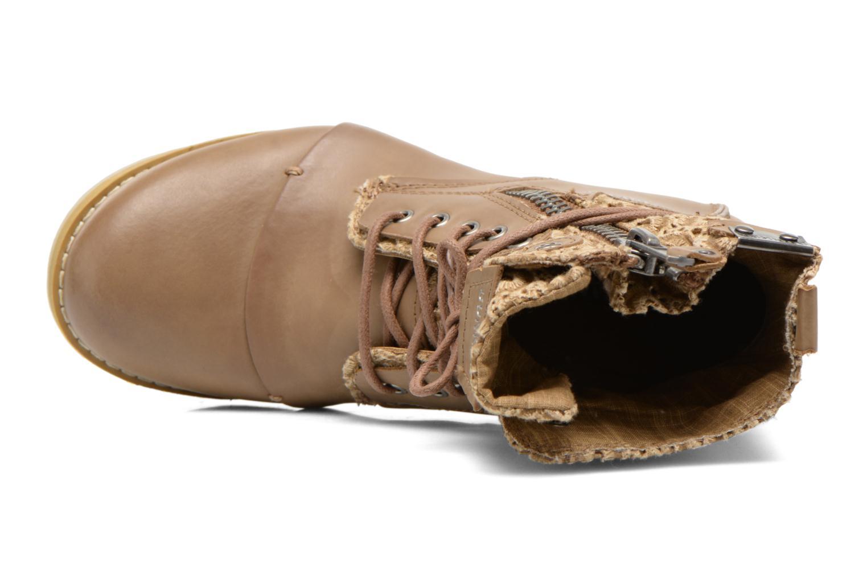 Bottines et boots Bunker Sara zip Marron vue gauche