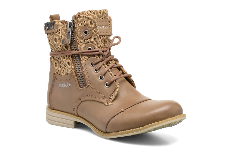 Bottines et boots Bunker Sara zip Marron vue détail/paire