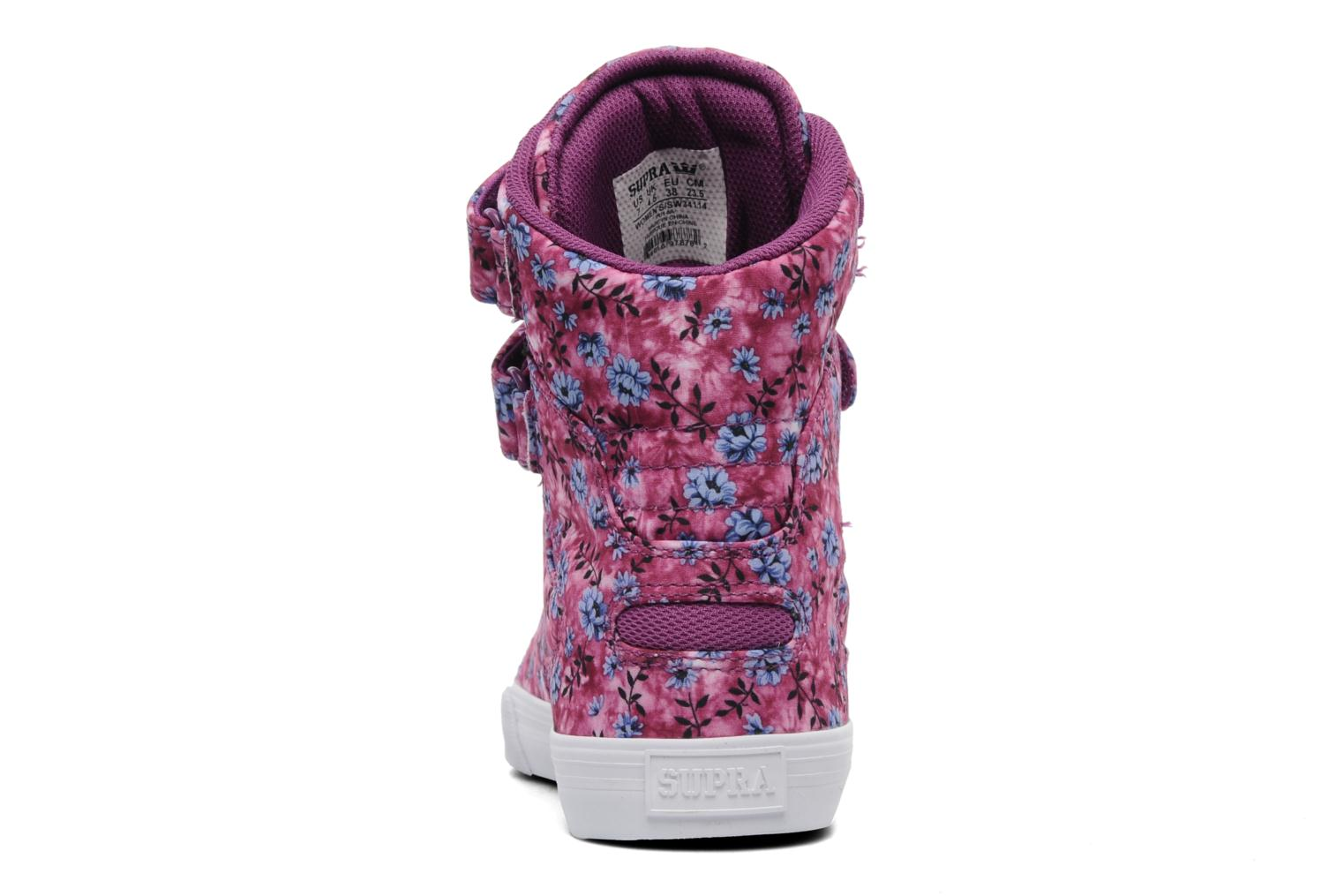 Baskets Supra Society w Rose vue droite