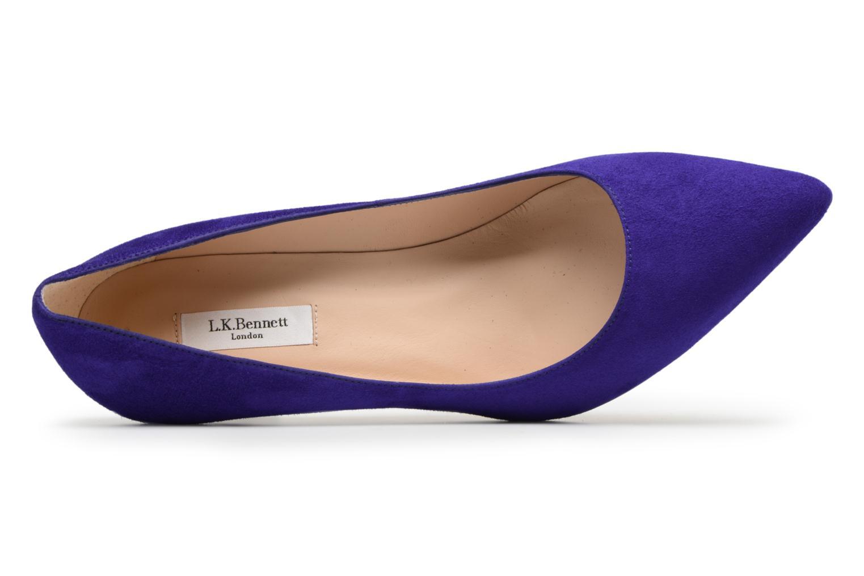 Zapatos de tacón L.K. Bennett Floret Azul vista lateral izquierda