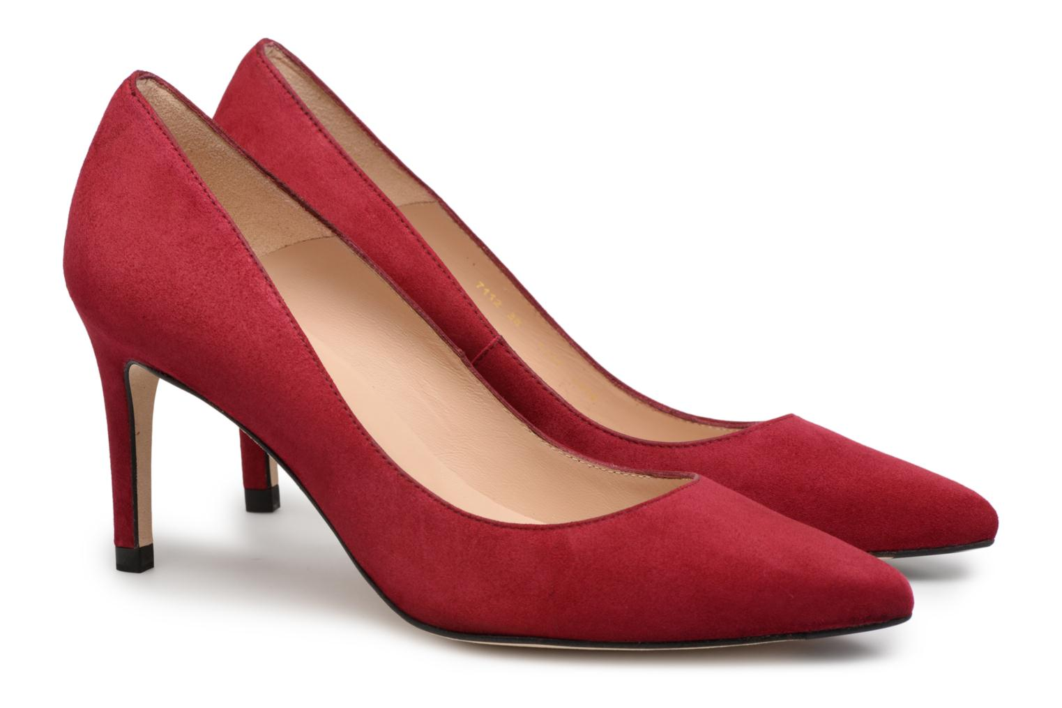 High heels L.K. Bennett Floret Burgundy 3/4 view