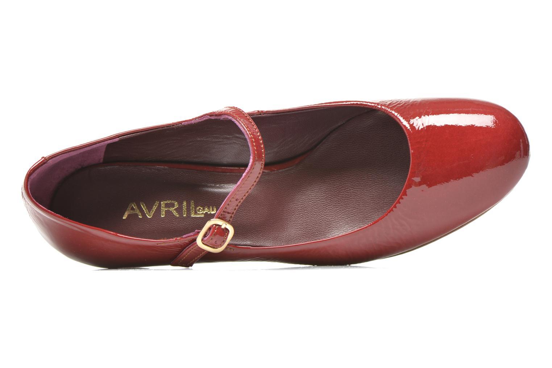 Zapatos de tacón Avril Gau Rosy Rojo vista lateral izquierda