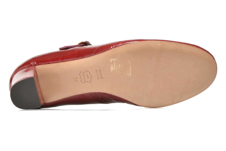 Escarpins Avril Gau Rosy Rouge vue haut