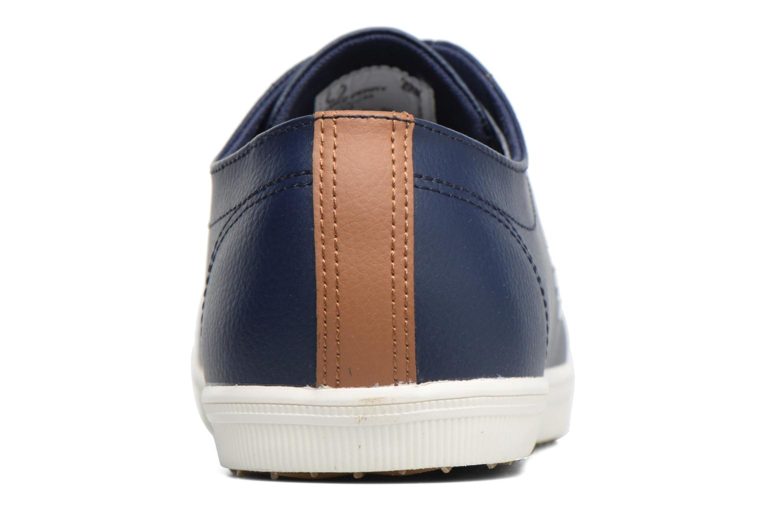Baskets Fred Perry Kingston Leather Marron vue droite