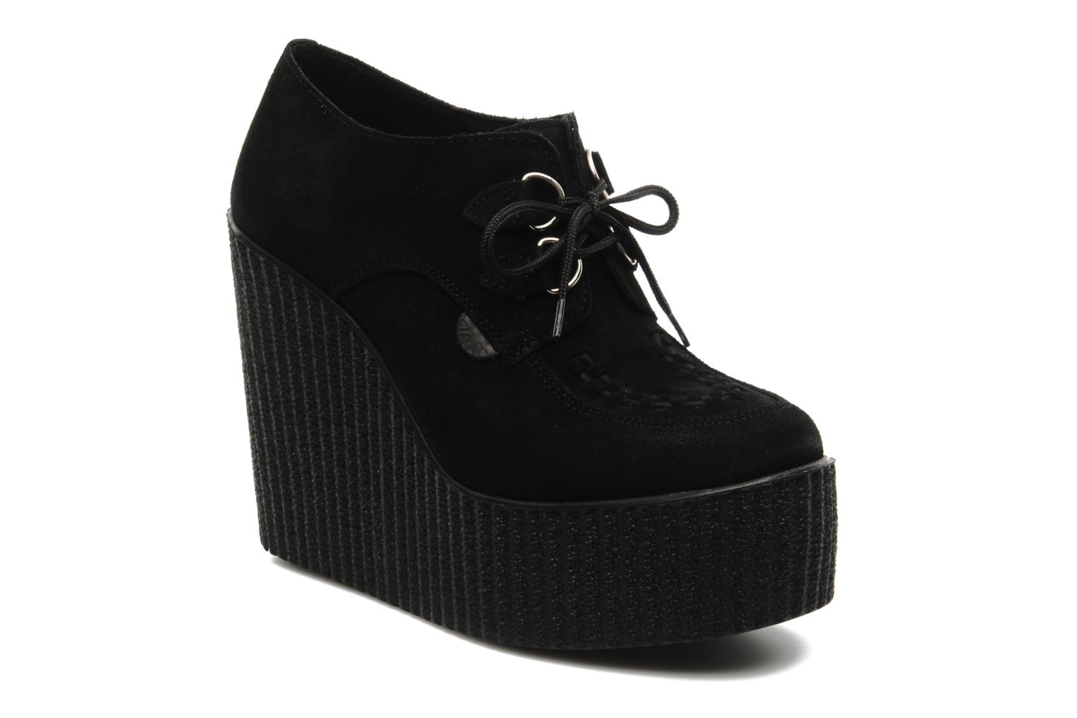 WULFRUN WEDGE Black Suede