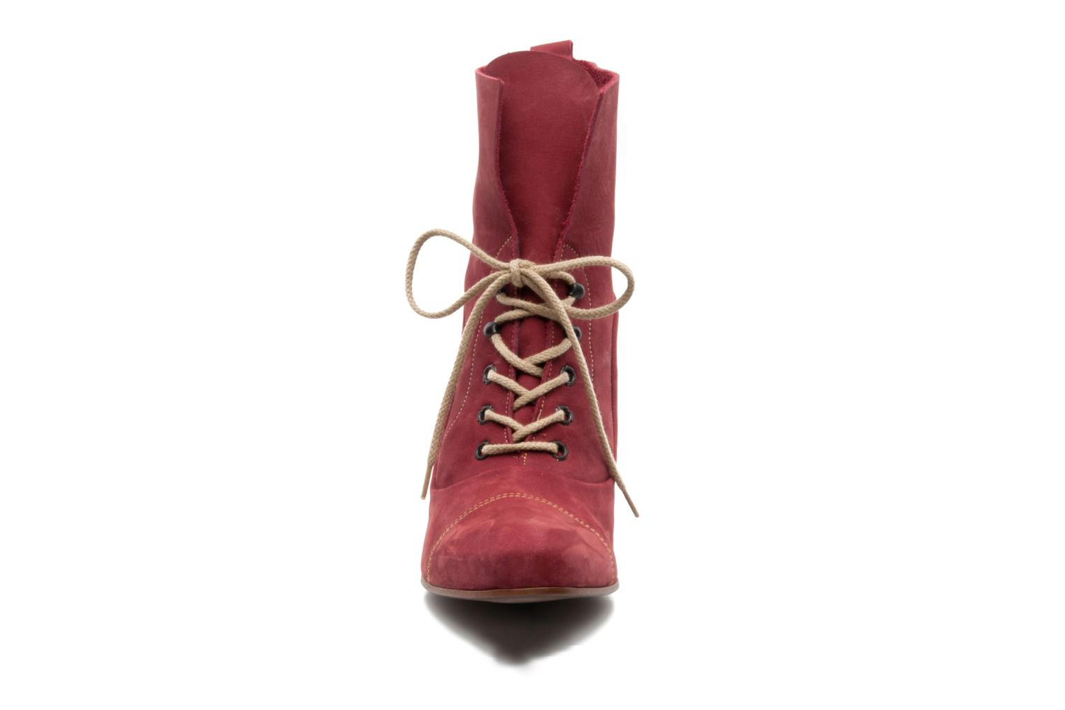 Ankle boots Stephane Gontard Polo Burgundy model view