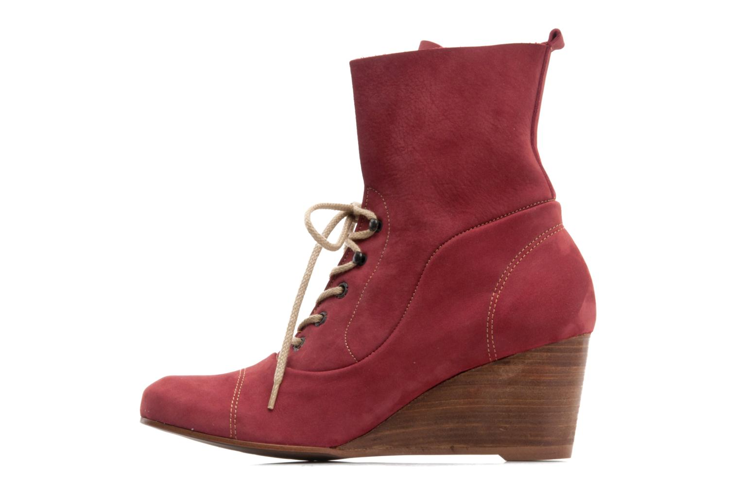 Ankle boots Stephane Gontard Polo Burgundy front view