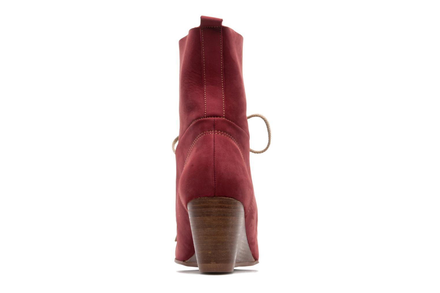 Ankle boots Stephane Gontard Polo Burgundy view from the right