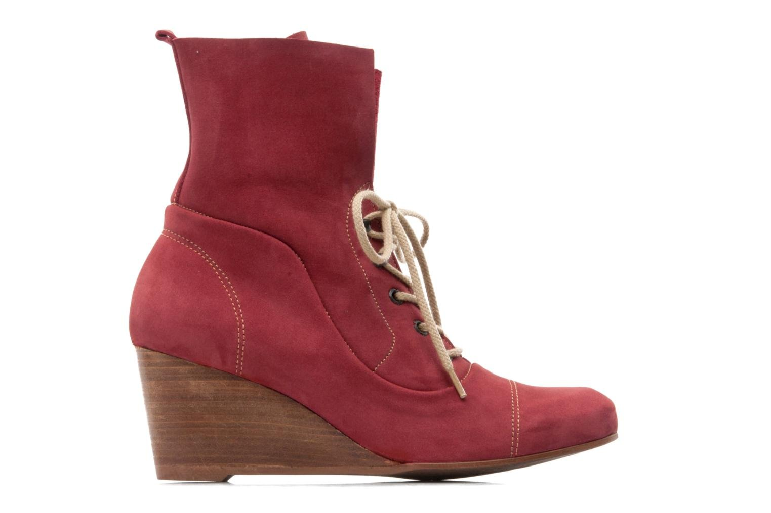 Ankle boots Stephane Gontard Polo Burgundy back view