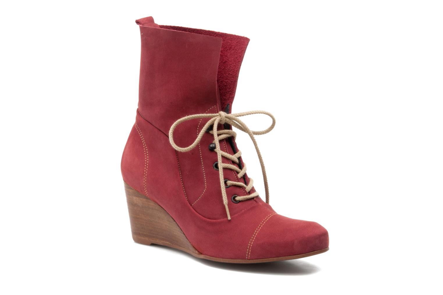 Ankle boots Stephane Gontard Polo Burgundy detailed view/ Pair view