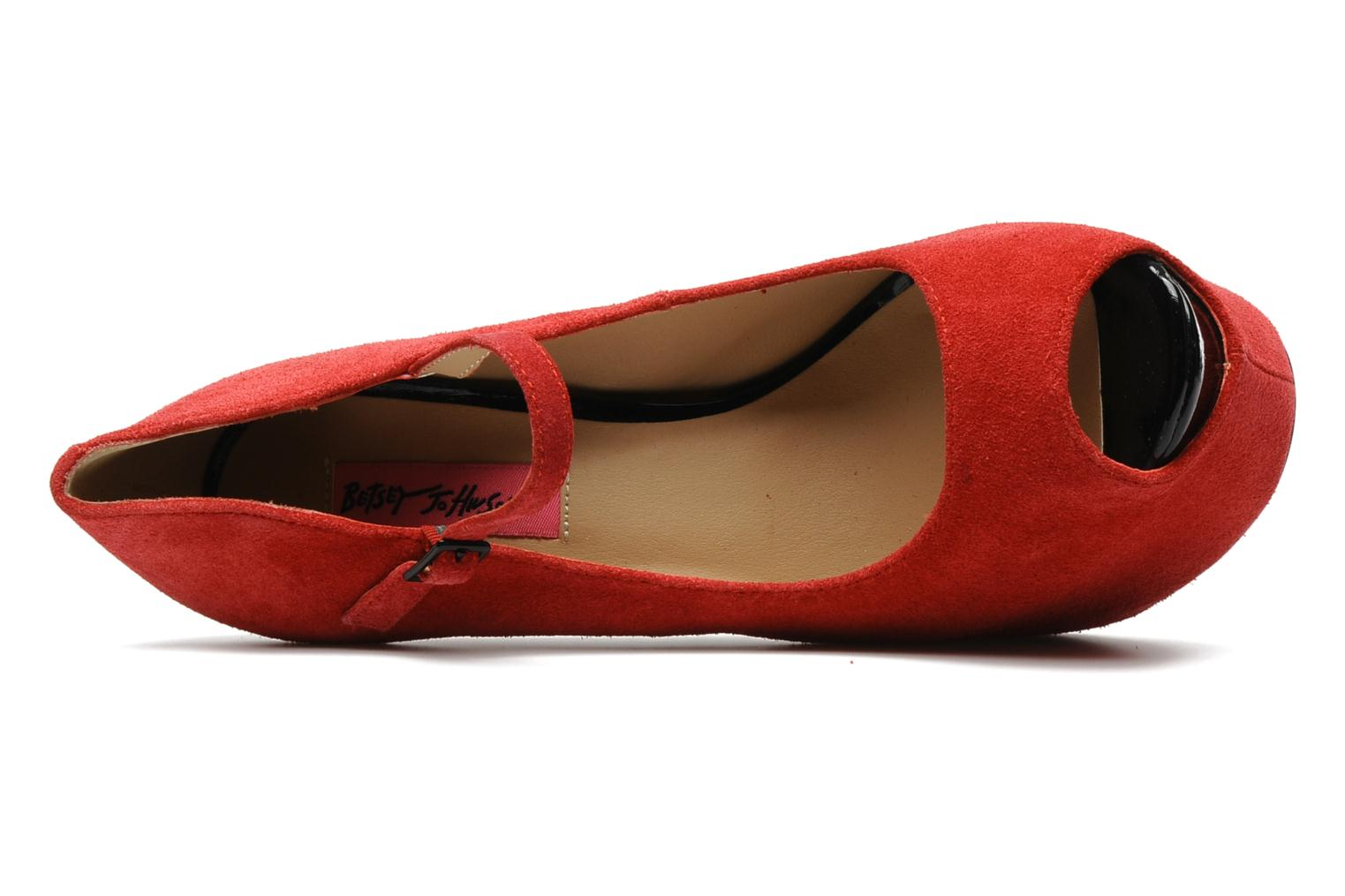 High heels Betsey Johnson BELLL Red view from the left