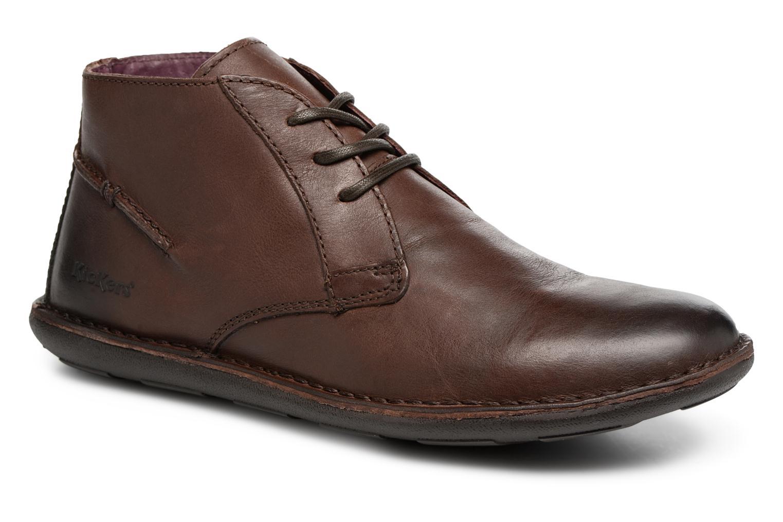 Chaussures à lacets Kickers SWIBO Marron vue détail/paire