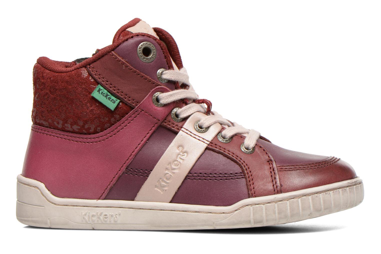 Sneakers Kickers Wincut Bordeaux achterkant