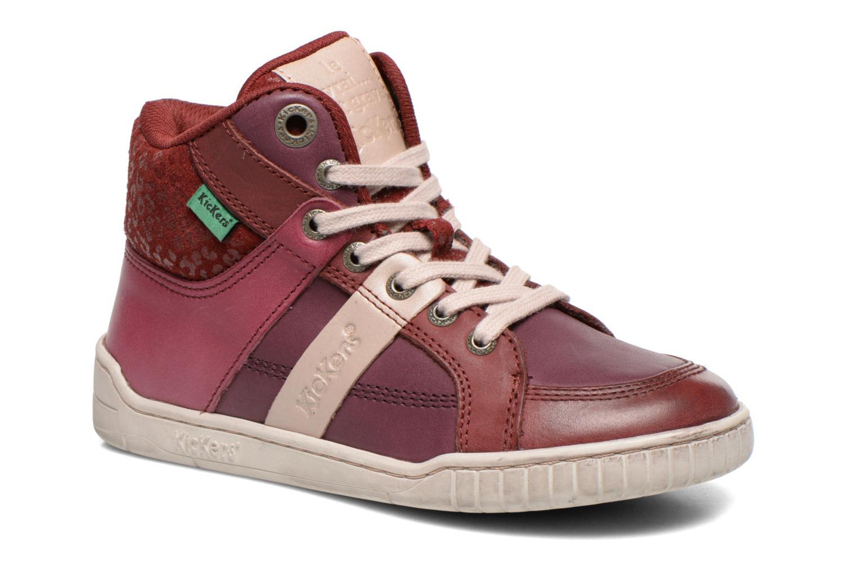 Sneakers Kickers Wincut Bordeaux detail