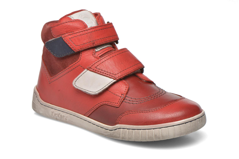 mit Klettverschluss Kickers Winsor rot detaillierte ansicht/modell