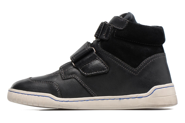 Chaussures à scratch Kickers Winsor Noir vue face